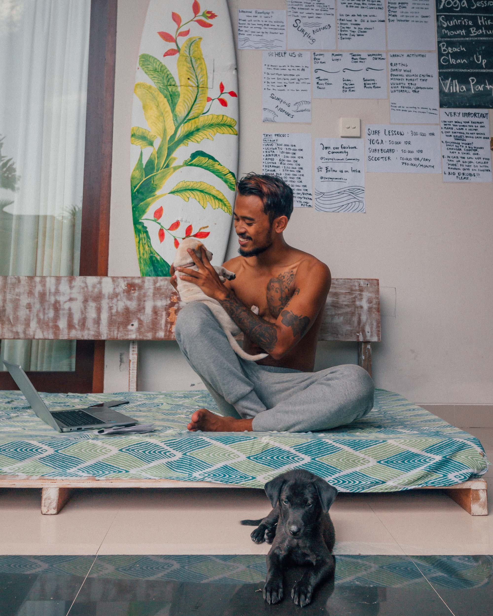 The best coworking space in Bali surfing nomads digital remote work community Made Champion