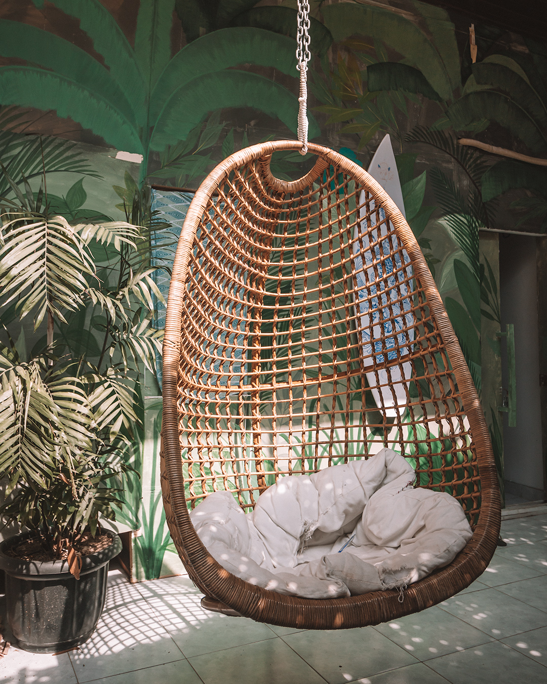 The best coworking space in Bali surfing nomads digital remote work community chill zone hammock