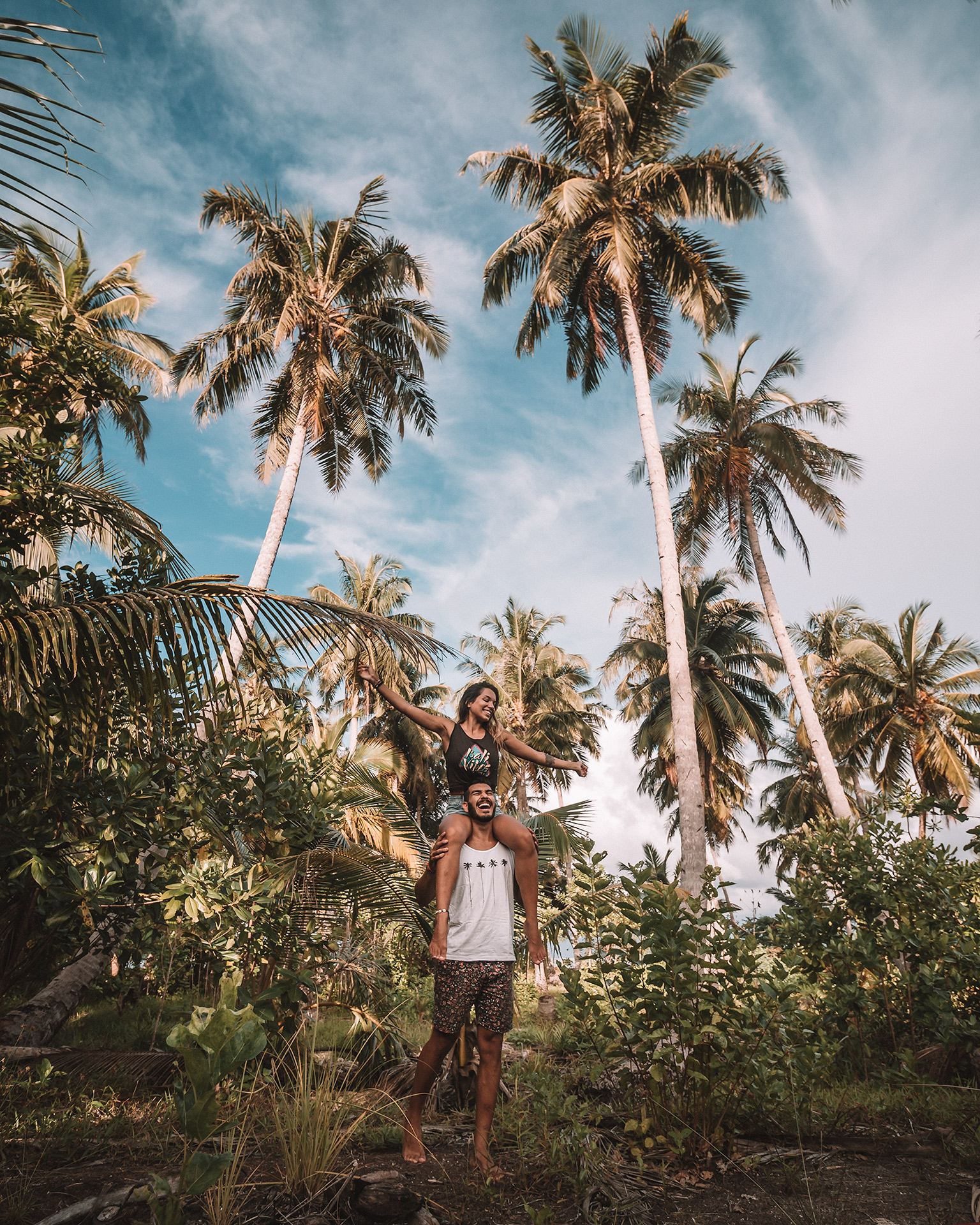 Love Bali tees freeoversea ethical clothing store Bali 1% for the planet palm tree vibes handmade in Bali Indonesia