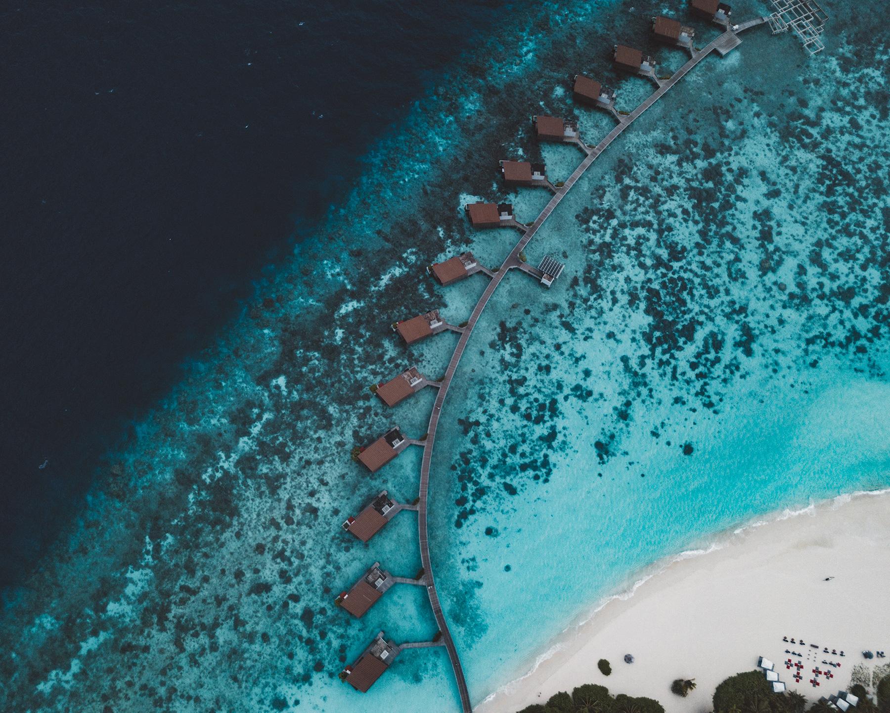Aearial view of Park Hyatt Hadahaa Maldives Leading Resort