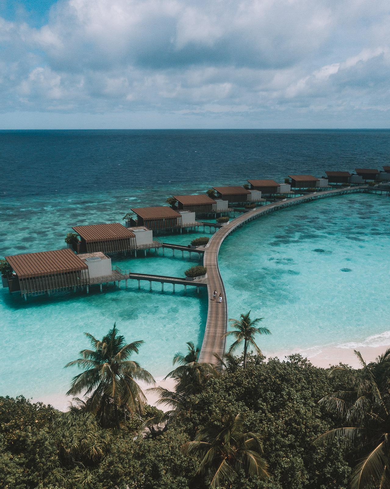Park Hyatt Hadahaa Maldives Leading Resort water villas aerial view