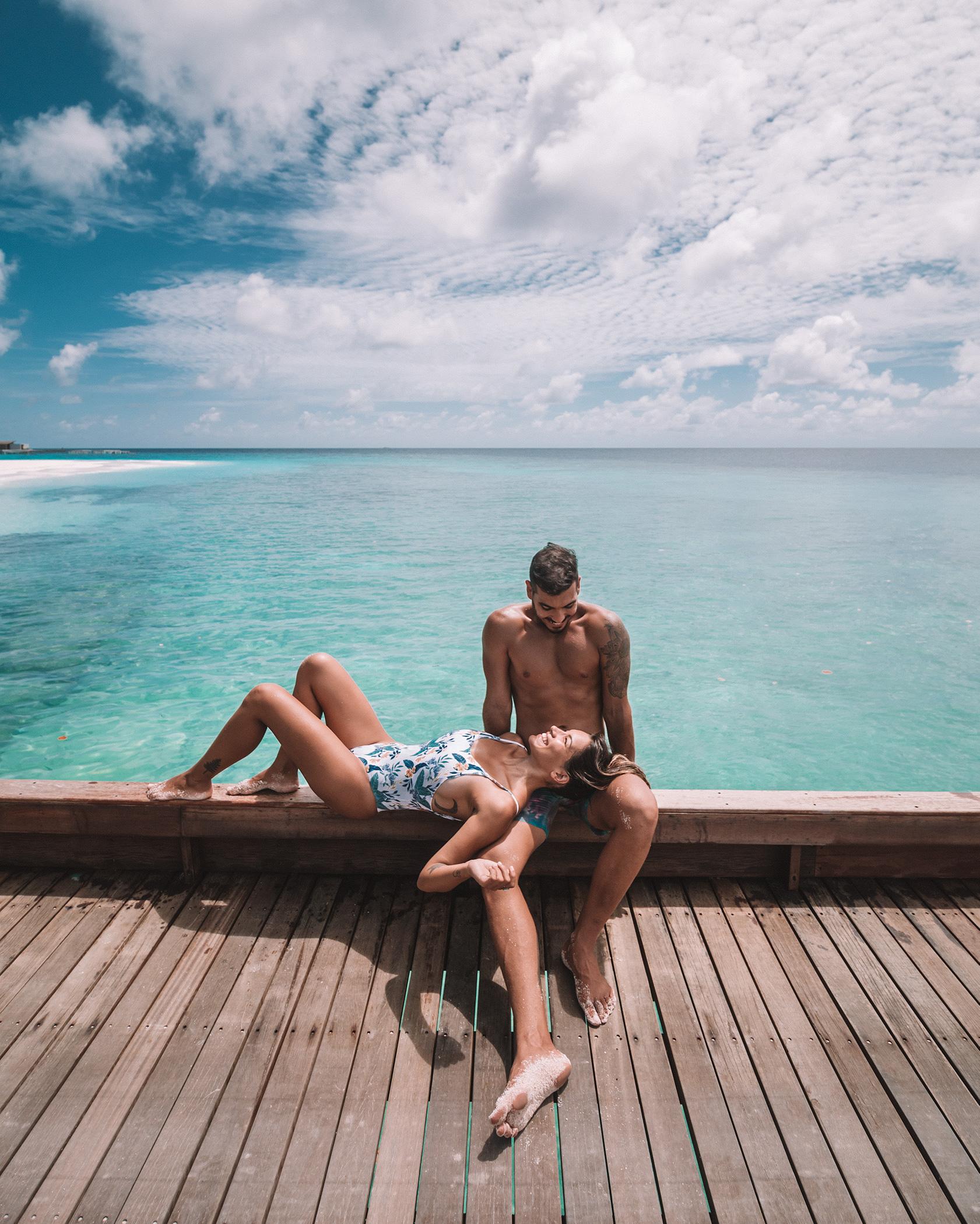 romantic couple honeymoon Maldives Leading Resort Park Hyatt Hadahaa