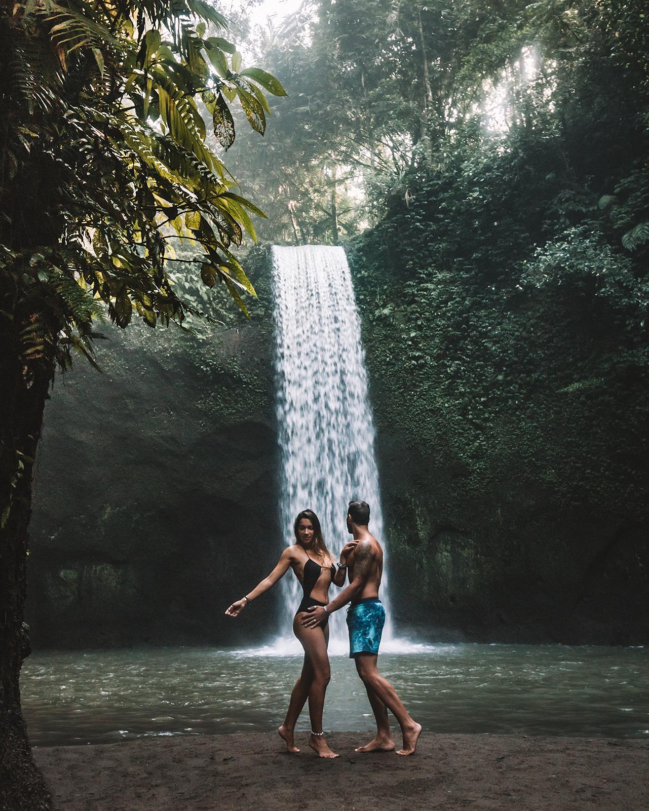 unique tibumana waterfall bali indonesia travel couple freeoversea beautiful photography amazing nature