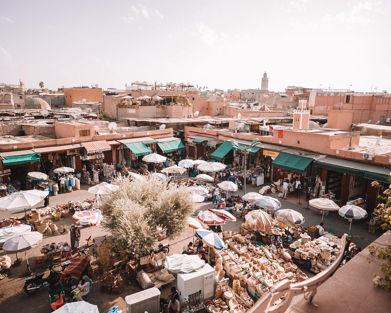 marrakech place des epices essential travel guide souks best places to go morocco
