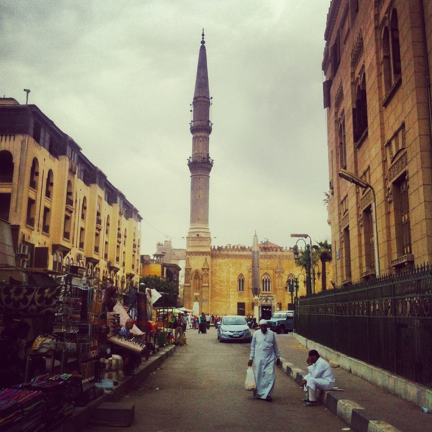 CAIRO | A man walk down from the entrance of Old Cairo. April 23, 2014.