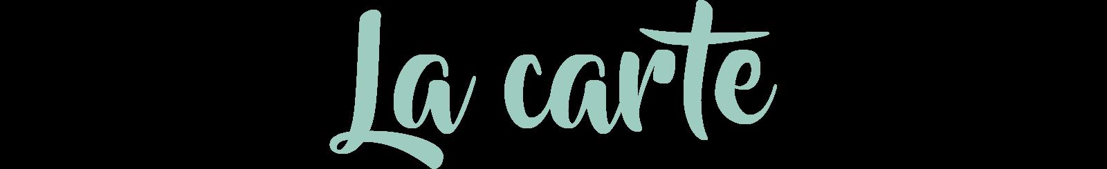 La carte du Tout Petit Café, produits locaux