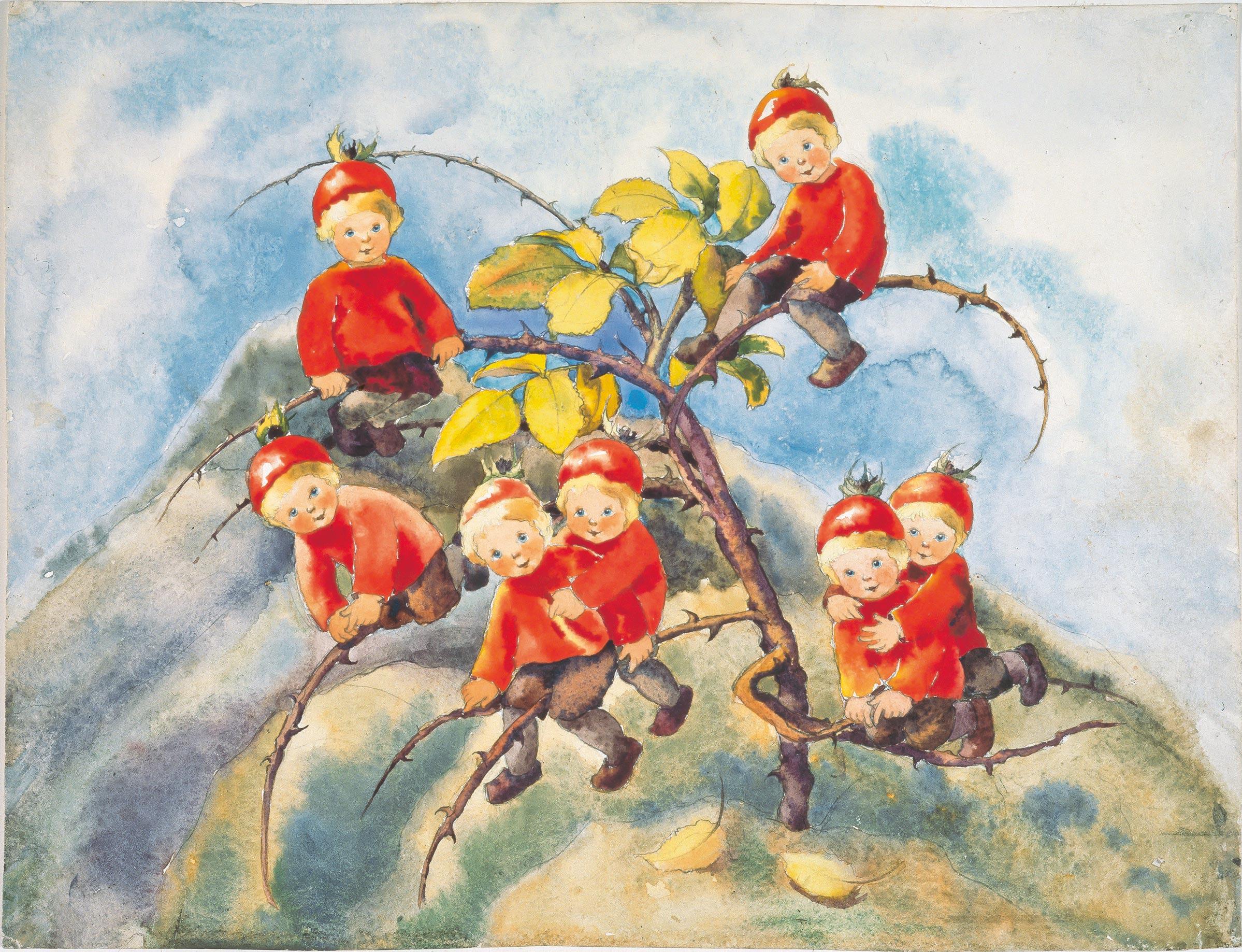 ||Die sieben Hagebutten Zwerge..The seven rosehip pixies||