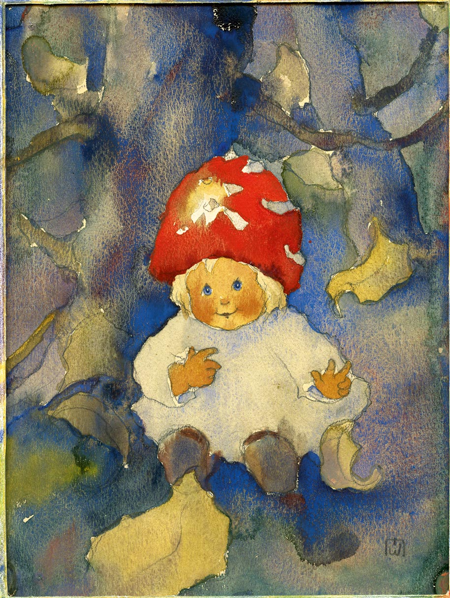 ||Kleines Pilzkind..Small toadstool child||