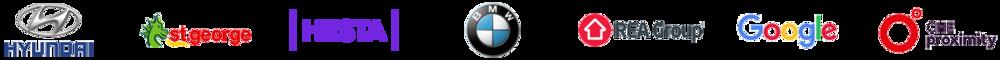 Various brand logos