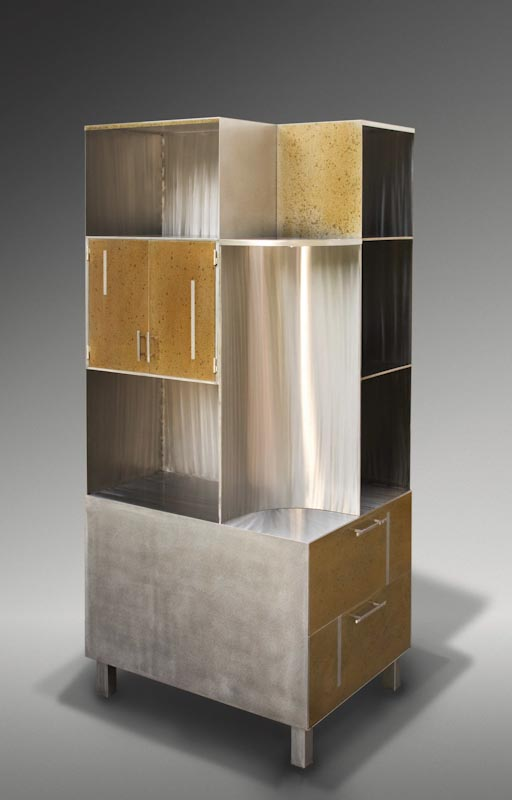 Office cabinet with book, file and sculpture display space