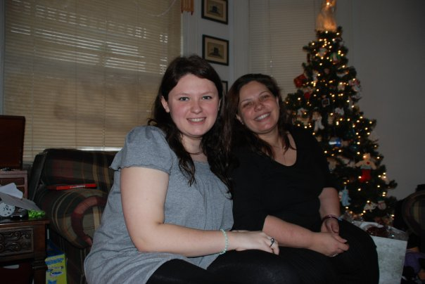 Angela and I in New Hampshire, December 2009