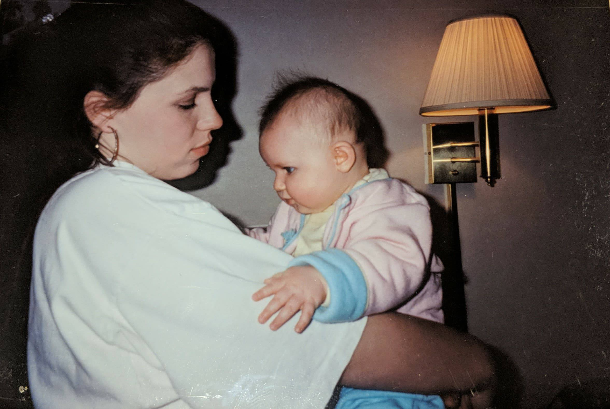 Angela and I in Texas in early 1994 for the finalization of the adoption