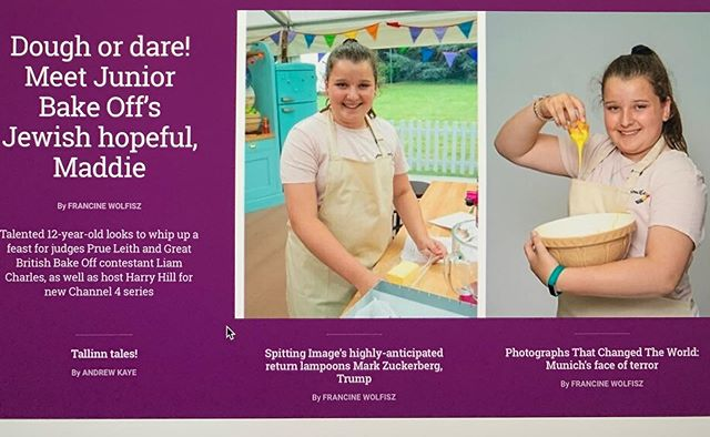 Good luck Maddie we've been following you. #jewishnews #prueleith #juniorbakeoff #bakeoff #harryhill #baking #london #uk #uktv #greatbritishbakeoff