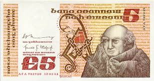 old irish five pound note