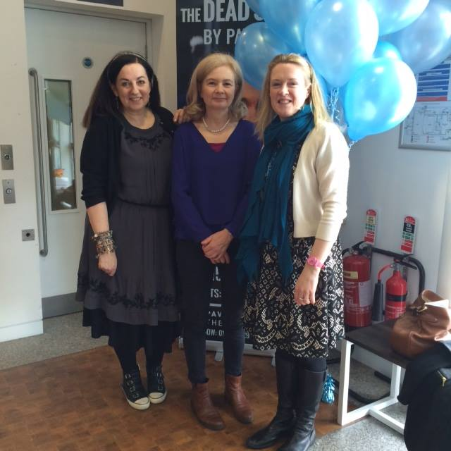 Cathy Cassidy with Judi Curtin and Sarah Webb at the Mountains to Sea dlr Book Festival