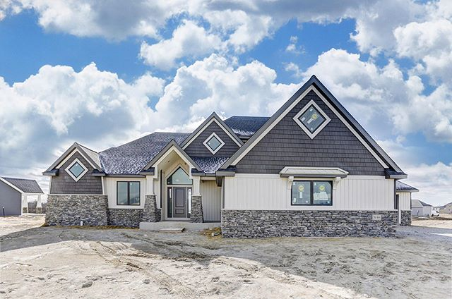 COME ON IN!! OPEN HOUSE Sunday 1-4 pm, 3146 Riders Trail: 5 BEDROOM, 4 1/2 BATH, WALKOUT BASEMENT. $609,900. Gorgeous water and wooded views!! Come and view this Bob Buescher home at YOUR leisure. THIS IS the CADILLAC of new construction! ✨ Directions: Go to Grey Oaks subdivision on Covington Road. Turn in on Grey Oaks Boulevard, and then turn right on Paperbark Trail. Turn left on Black Goose Blvd and follow it until you get to Riders Trail and turn right—the house is on the left. 🏡 More details: 🏡 Carpet and flooring were done by CR Carpet & Flooring. Engineered Hardwood in the kitchen, dining and foyer. Cabinets and Counters: Zehr Antiques in Grable Light Fixtures from Wabash Electric  Appliances from Stucky Brothers  Island is 5X8. Quartz counters.  Cultured Marble counters in the Master and the Jack n Jill upstairs  Concrete driveway goes in next week.  Fireplace Stone with Shiplap around. Ceilings are 10' high in the great room and 9' high in the kitchen. 10' high in the master bedroom and 12' high in the master closet.  Lawn will be fertilized, seeded and strawed.  Deck is Trex.  The home is prewired for Stereo and security. — Message me for a private showing if you prefer! #FortWayne #NewHomeForSale // Mike Thomas Realtors