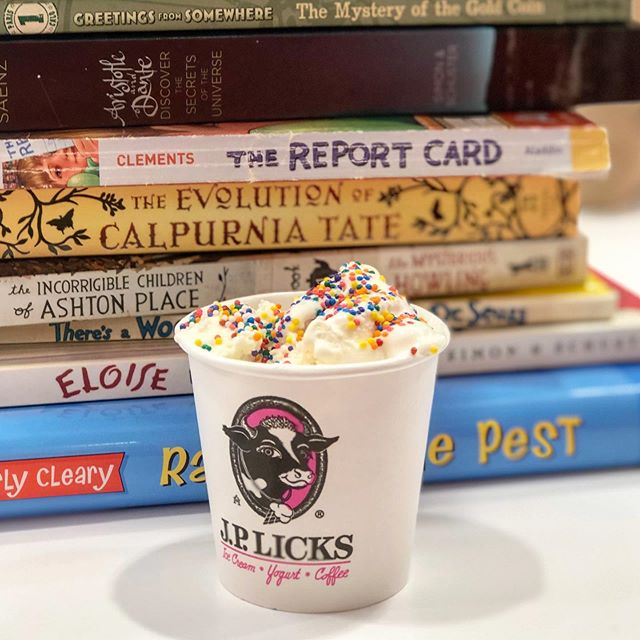 Today is the perfect day for ice cream! We are serving @jplicks at the library until 3:00.