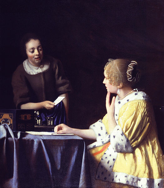 Johannes Vermeer, Mistress and Maid