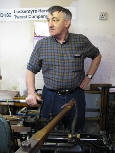 Donald John in his workshop
