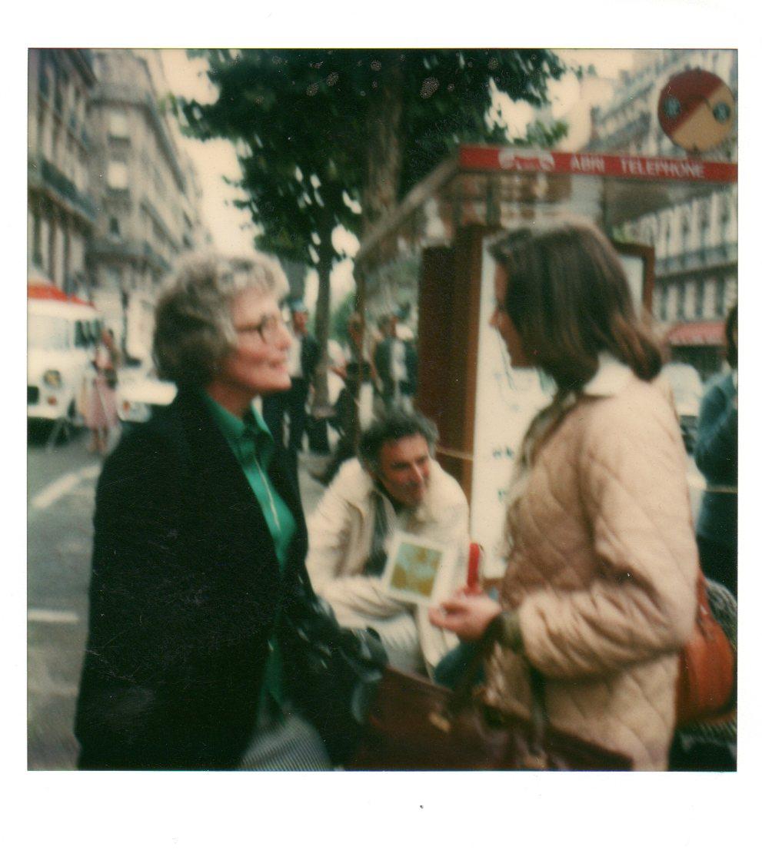 Betty & Liz Leyshon (Dame Rebecca West's Assistant), Paris, 1978.