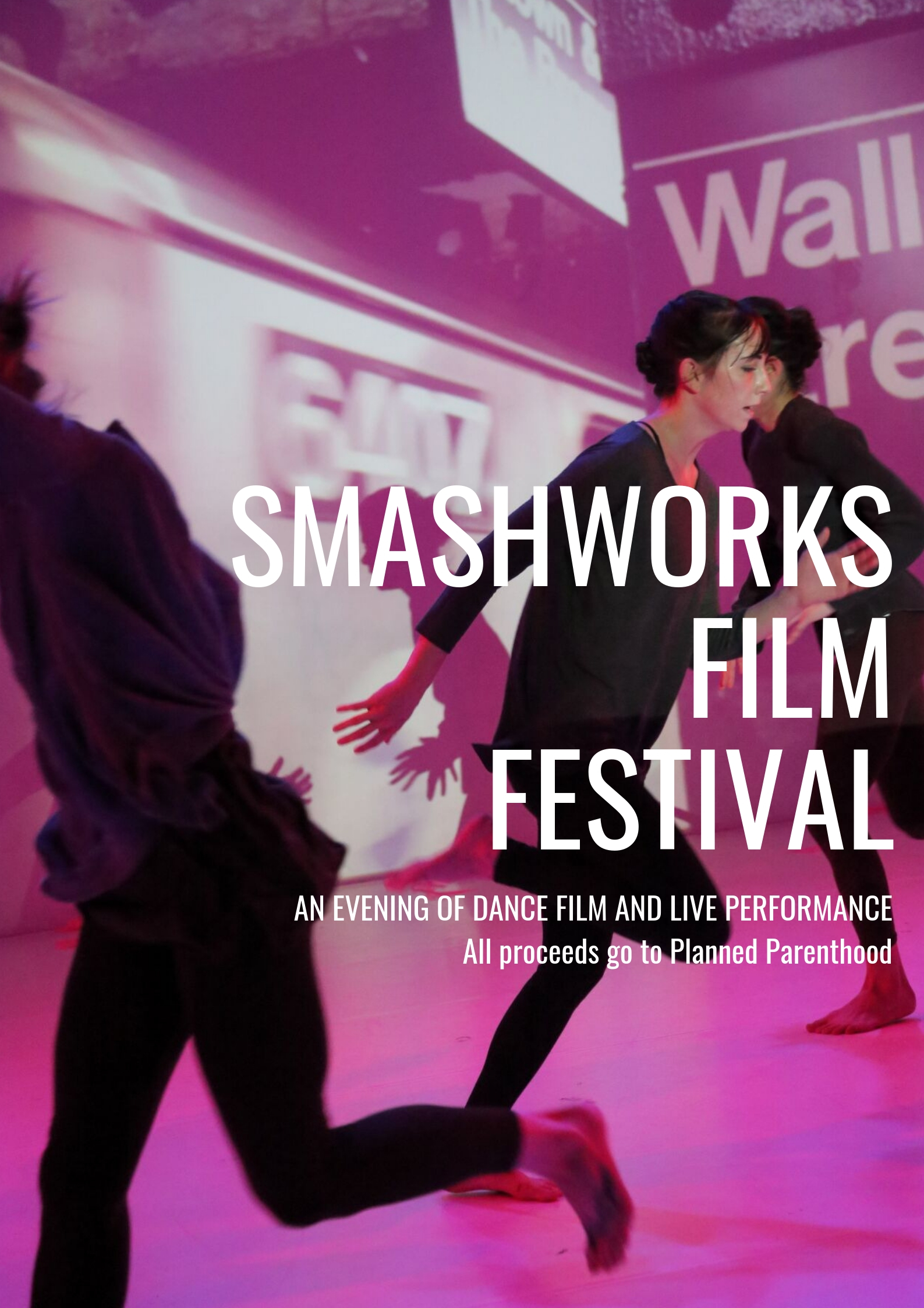 Evening of curated dance films with all profits donated to Planned Parenthood.