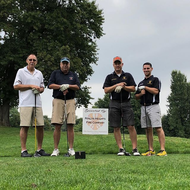 On October 1, 2018 members from @roslyn_highlands_fire_co participated in the 5th Battalion Chiefs golf outing.