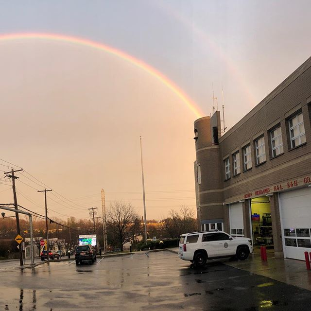 A little double rainbow action after the rain we had today. #RHFC #HQ