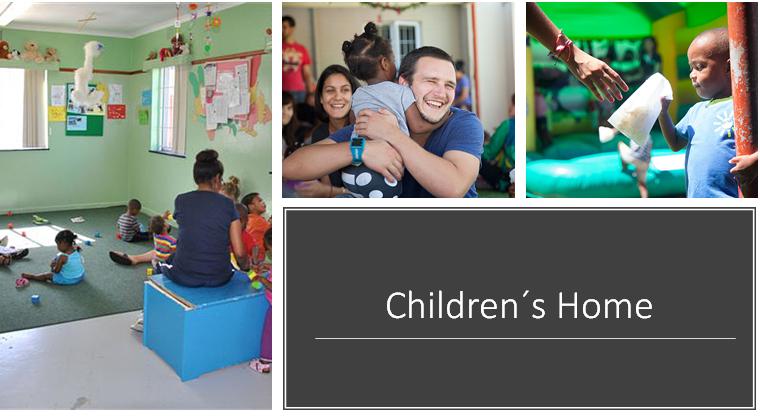 O Children's Home - oferece cuidado em tempo integral para 49 bebês e crianças de 0 - 5 anos de idade. Essas crianças foram negligenciadas, abandonadas, abusadas ou são órfãos. E são aceitos na casa independentemente do estado do HIV, raça ou gênero.