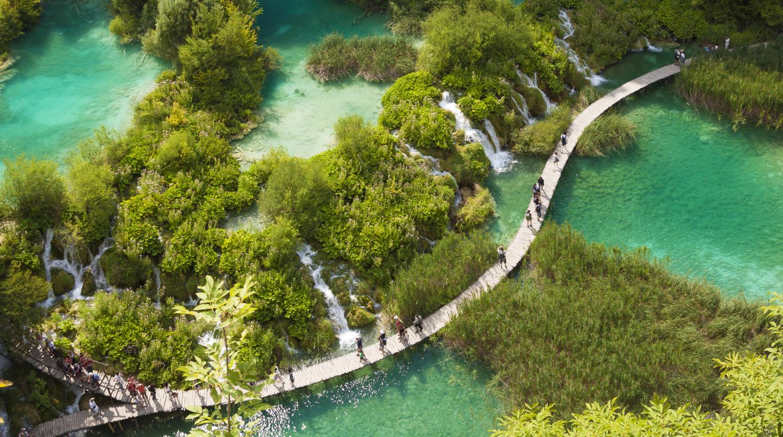 Waterfalls and rivers in Croatia