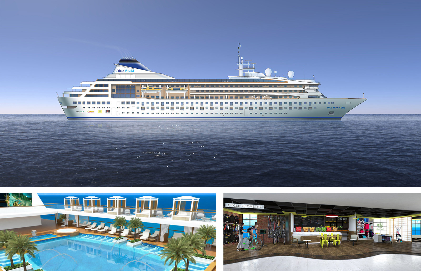 Ship Renderings & Videos - High-resolution ship renderings and video clips including:- Ship Exterior- Mid Ship Pool- Therapy Pool- Sports Deck- Staterooms- Owners Residences+ More