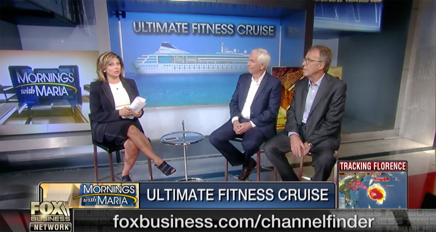 """Blue World Voyages featured on the Number One News Channel.  Co-founders Gene Meehan and Fredy Dellis introduced some of the first renderings of key spaces on the ship along with a preview of the Owners Suites during an interview with host Maria Bartiromo on the """"Mornings With Maria"""" show broadcast on Fox Business News, the nation's #1 rated business news channel."""