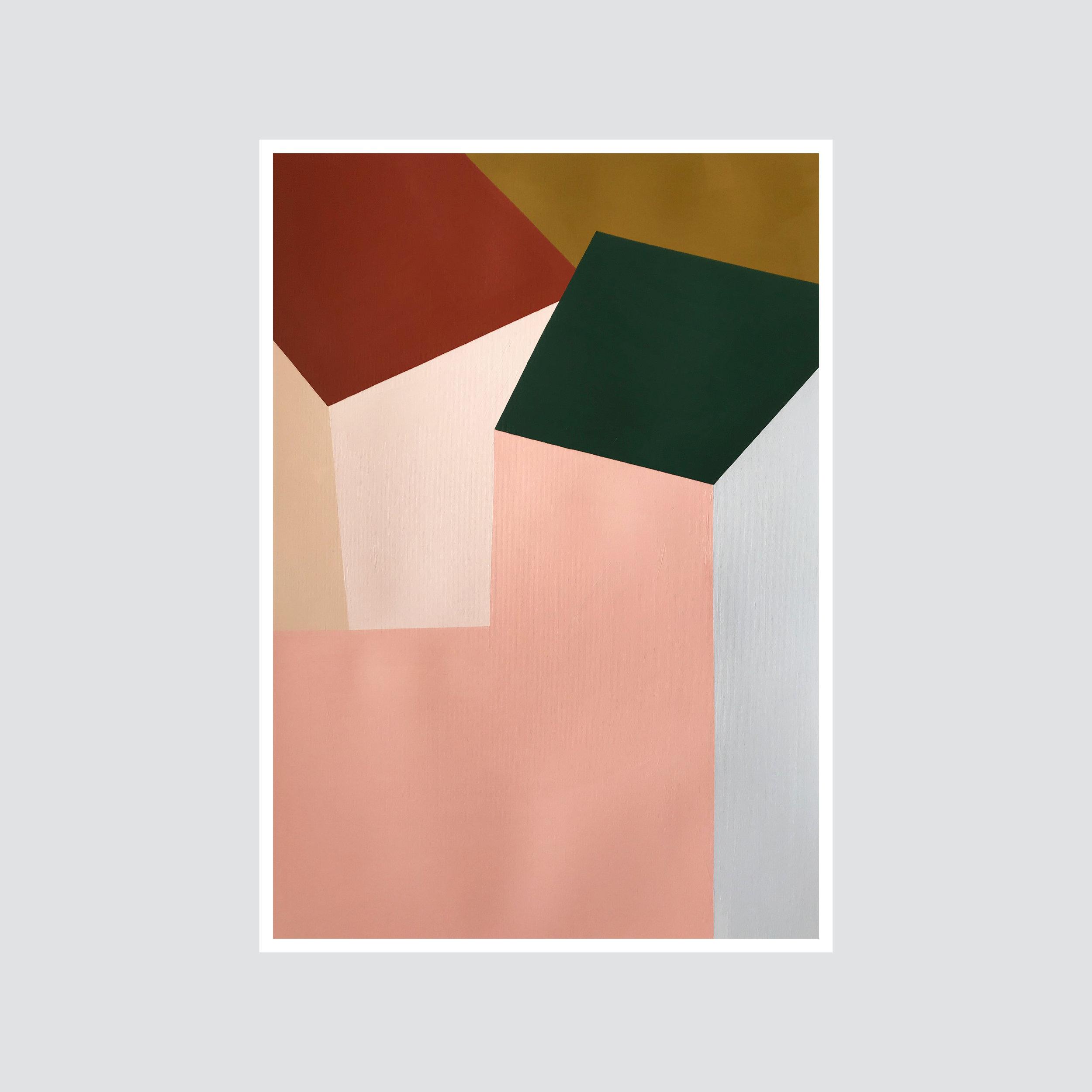 SOLD - 'Suffolk pink series no.4'