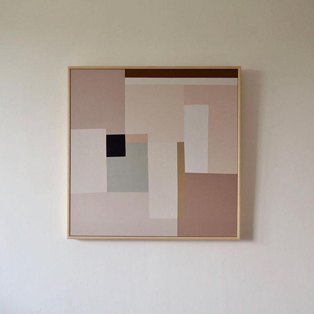 *SOLD* Nude colour study I  Acrylic on plywood  61cm x 61cm