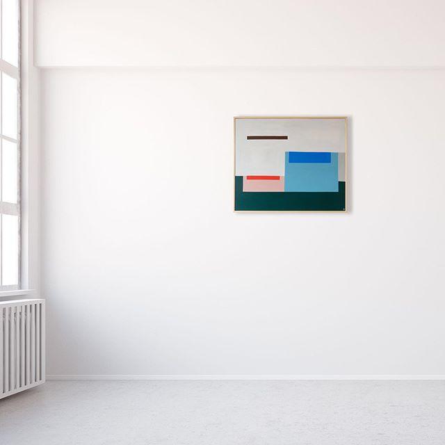'Stillness by the pool' Acrylic on plywood  Approx 21inch x 25inch / 53cm x 63cm