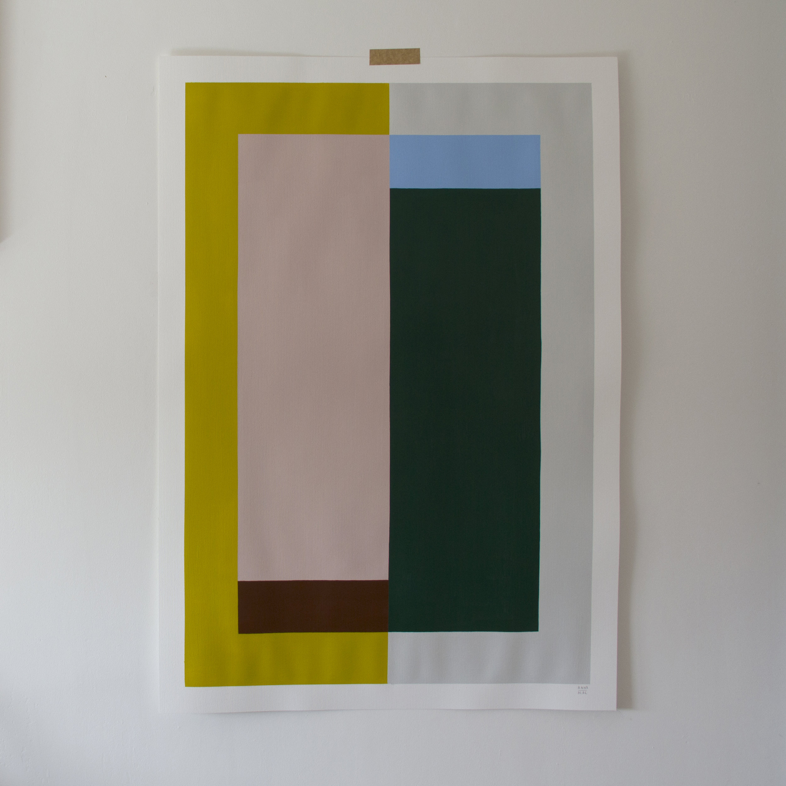 SOLD - 'Colour study on paper no.2'