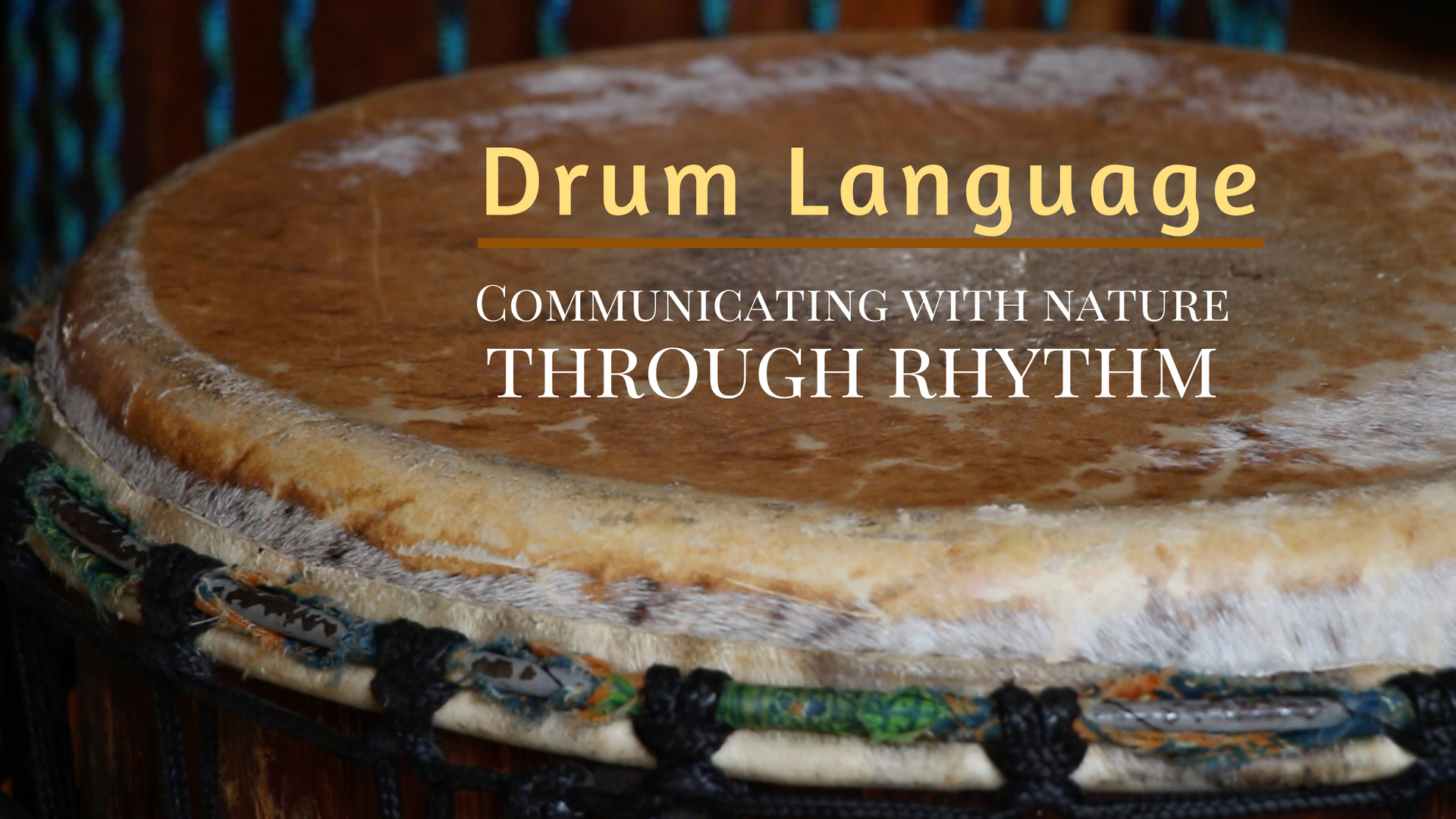 Drum Language - Communicating With Nature Through Rhythmthis gathering will focus on how to communicate with plants, trees, animals, and humans using the drumCOMING NOVEMBER 2018!