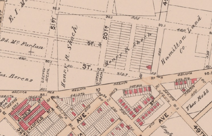 Returning to our timeline, on G.W. Bromley's 1895 Philadelphia atlas, the land that would become our park is owned by Henry R. Shoch, a builder of more than 4,000 homes who would go on to serve as treasurer of the city from 1903 and 1907 under Mayor John Weaver.