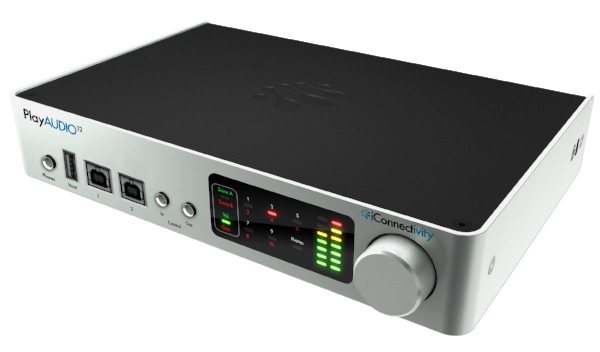 A dedicated, multi-channel interface like the PlayAUDIO12 can really give you the edge in a live performance situation, by providing multiple audio outputs.