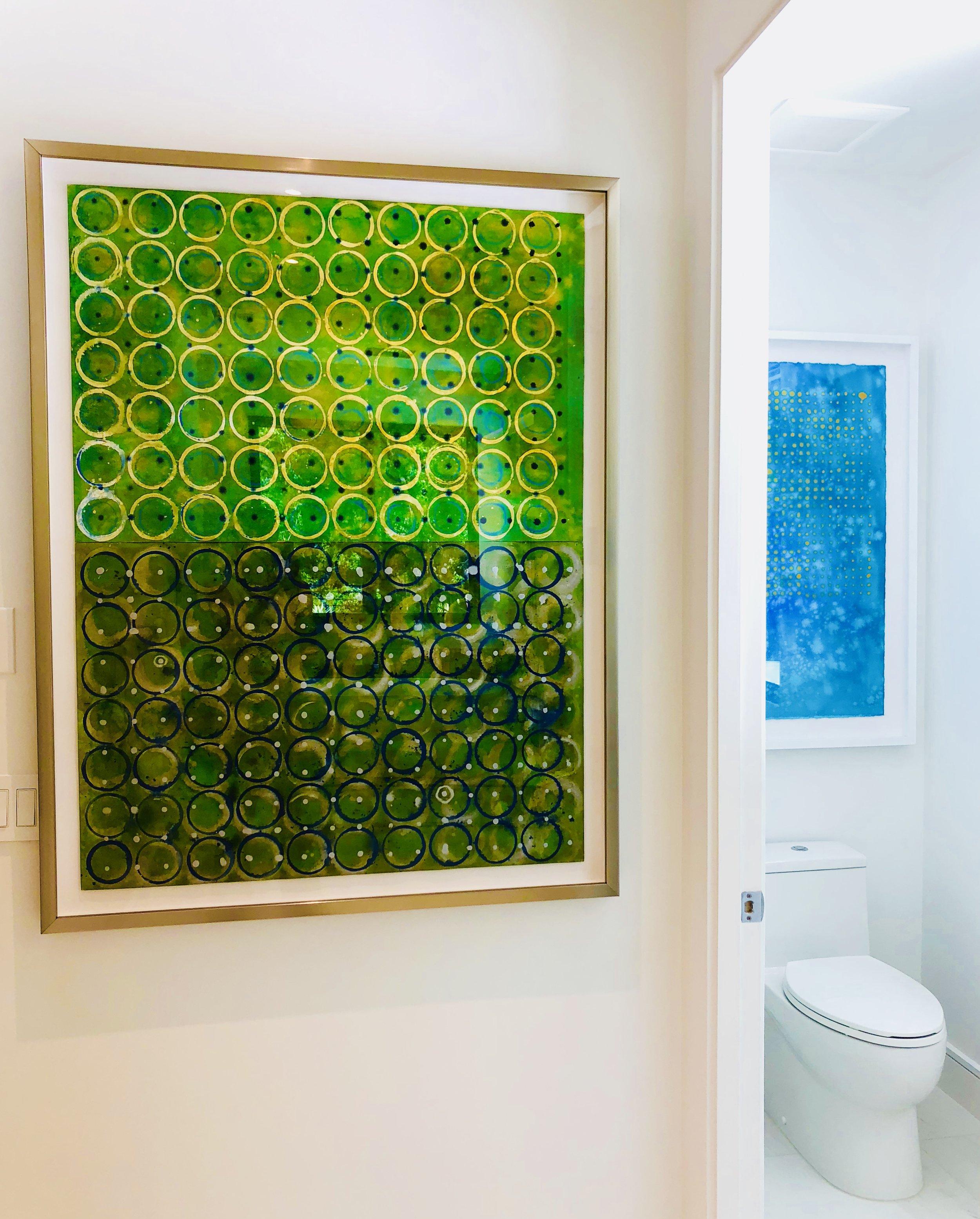 Green AquaTint Circle Series II :  $3995.   AquaTint Sky Series III :  $1995.