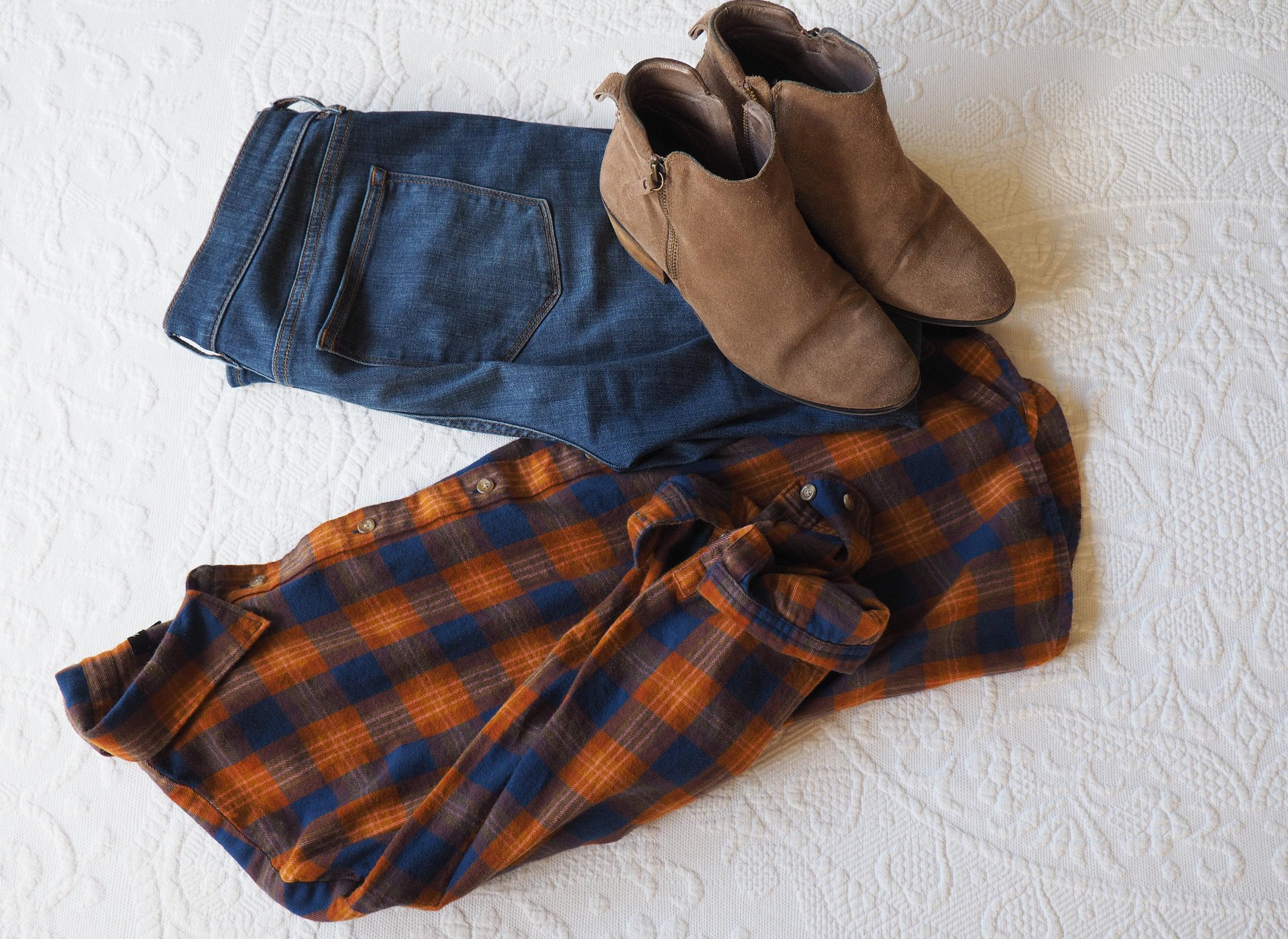 Button Down     Denim    Boots ( Similar )