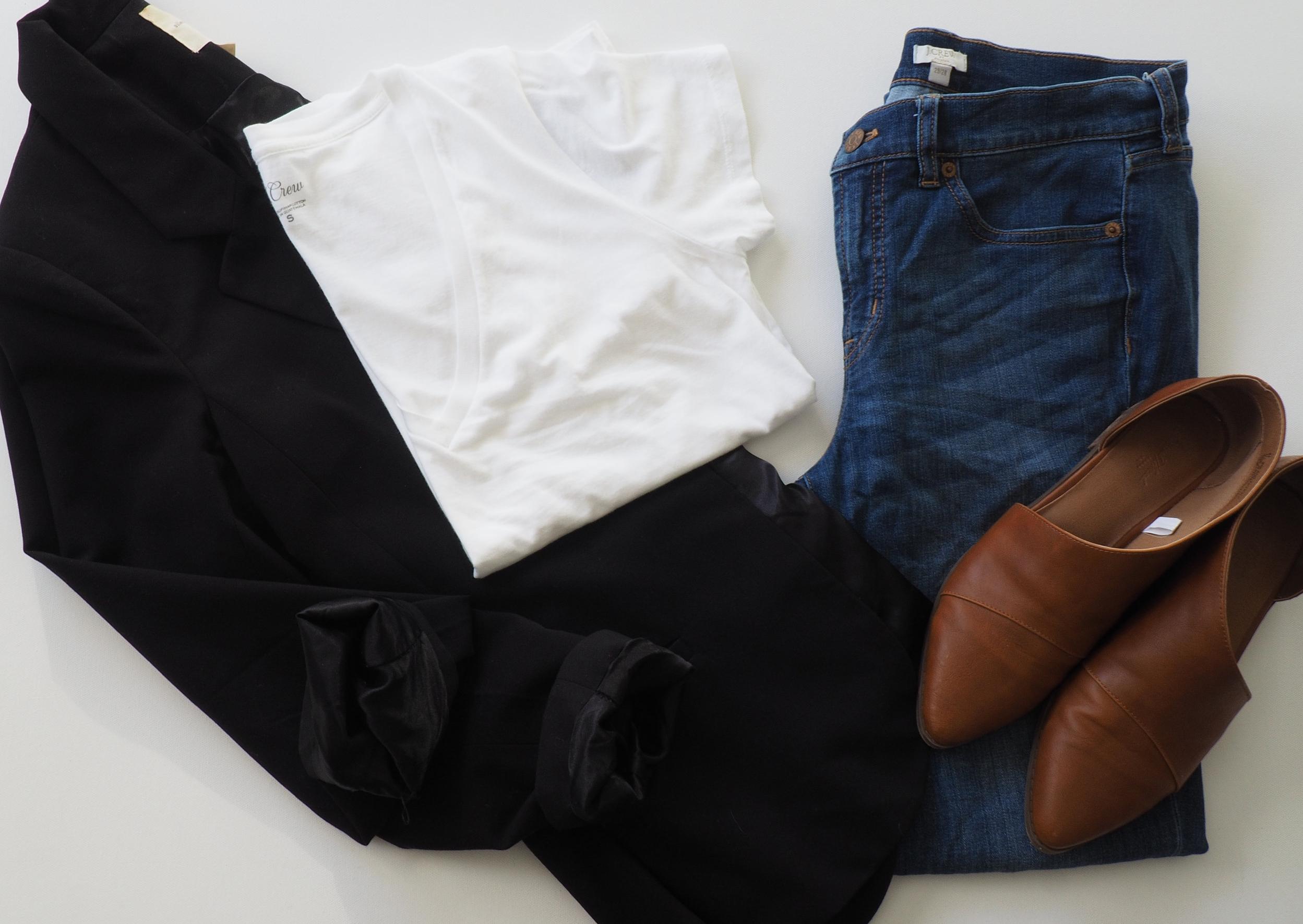 Blazer  (Similar) |  T Shirt  |  Jeans  |  Booties