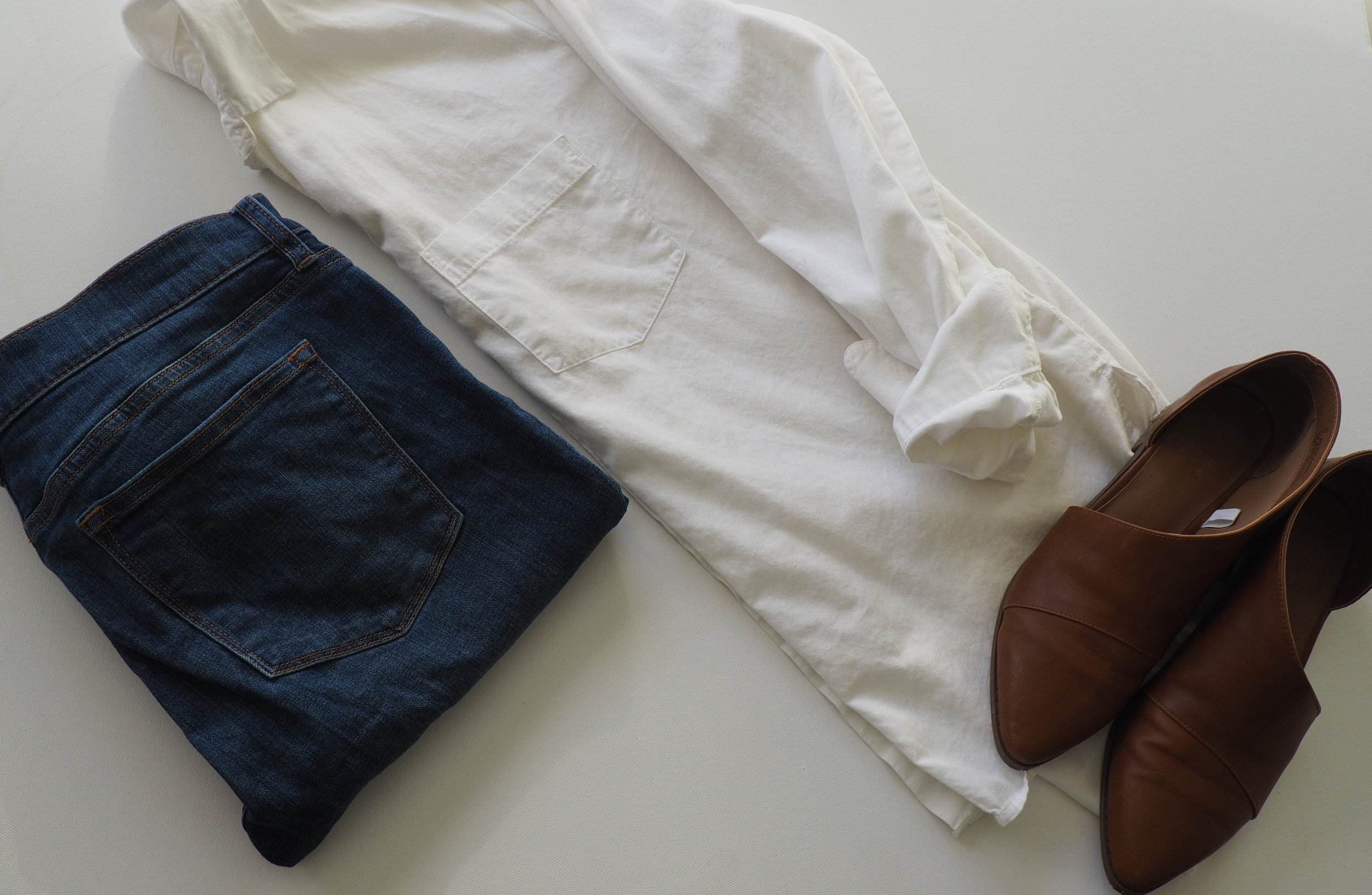 Button Down  |  Jeans  |  Booties