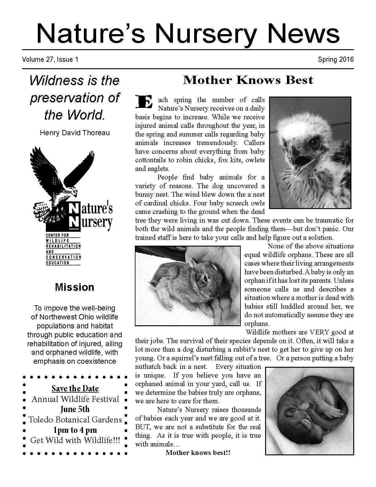 Newsletters — Nature's Nursery