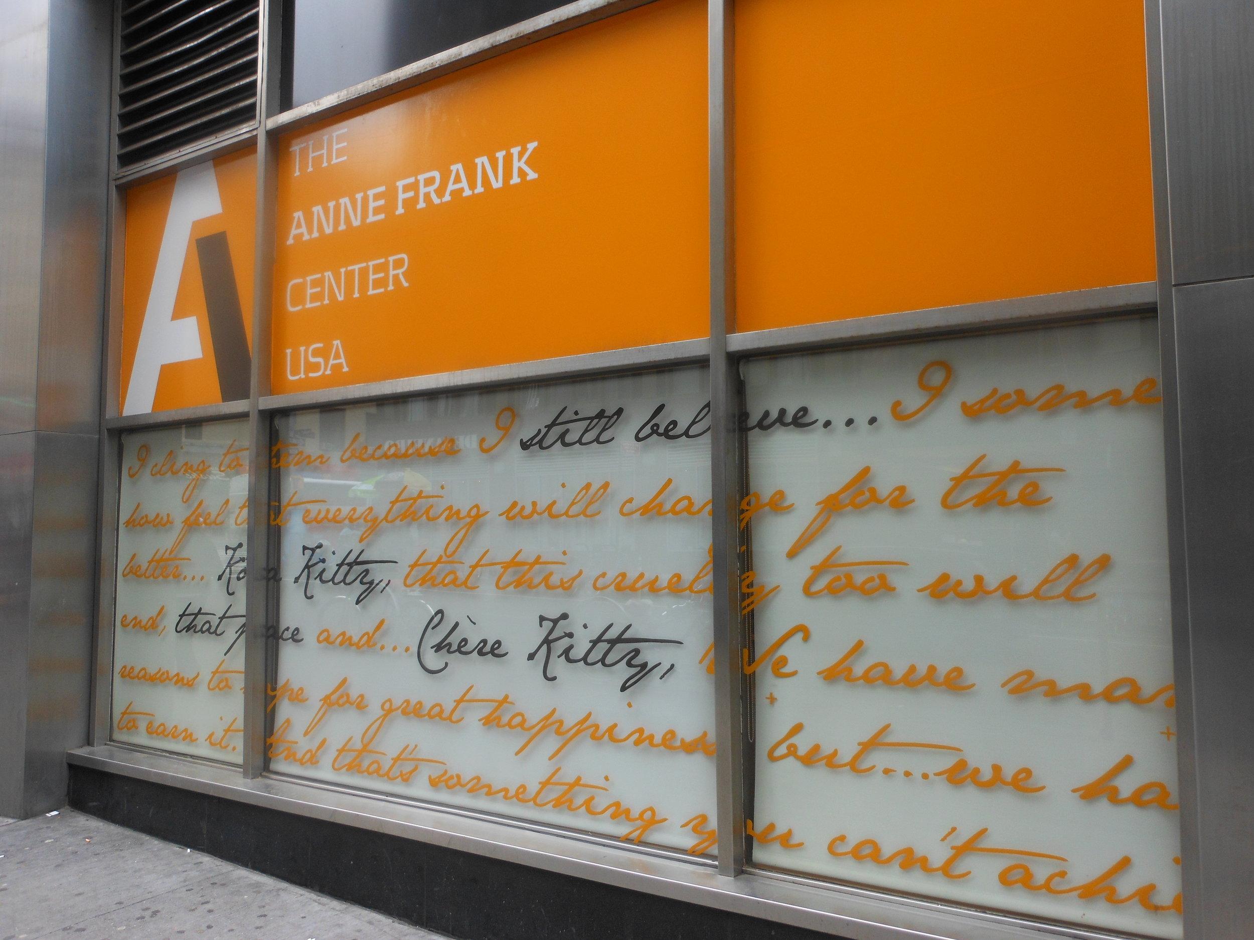 Anne Frank Center - Red for the Blue Newsletter