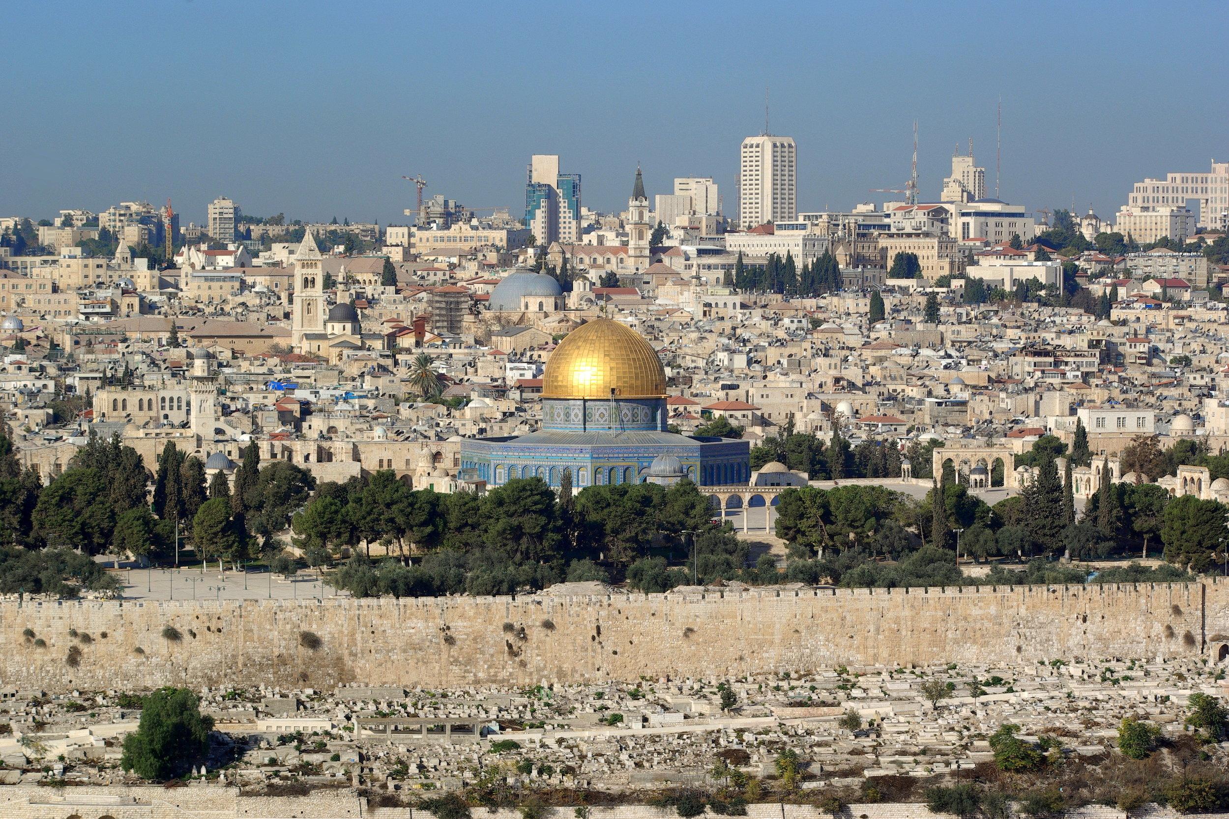 Red for the Blue Jerusalem
