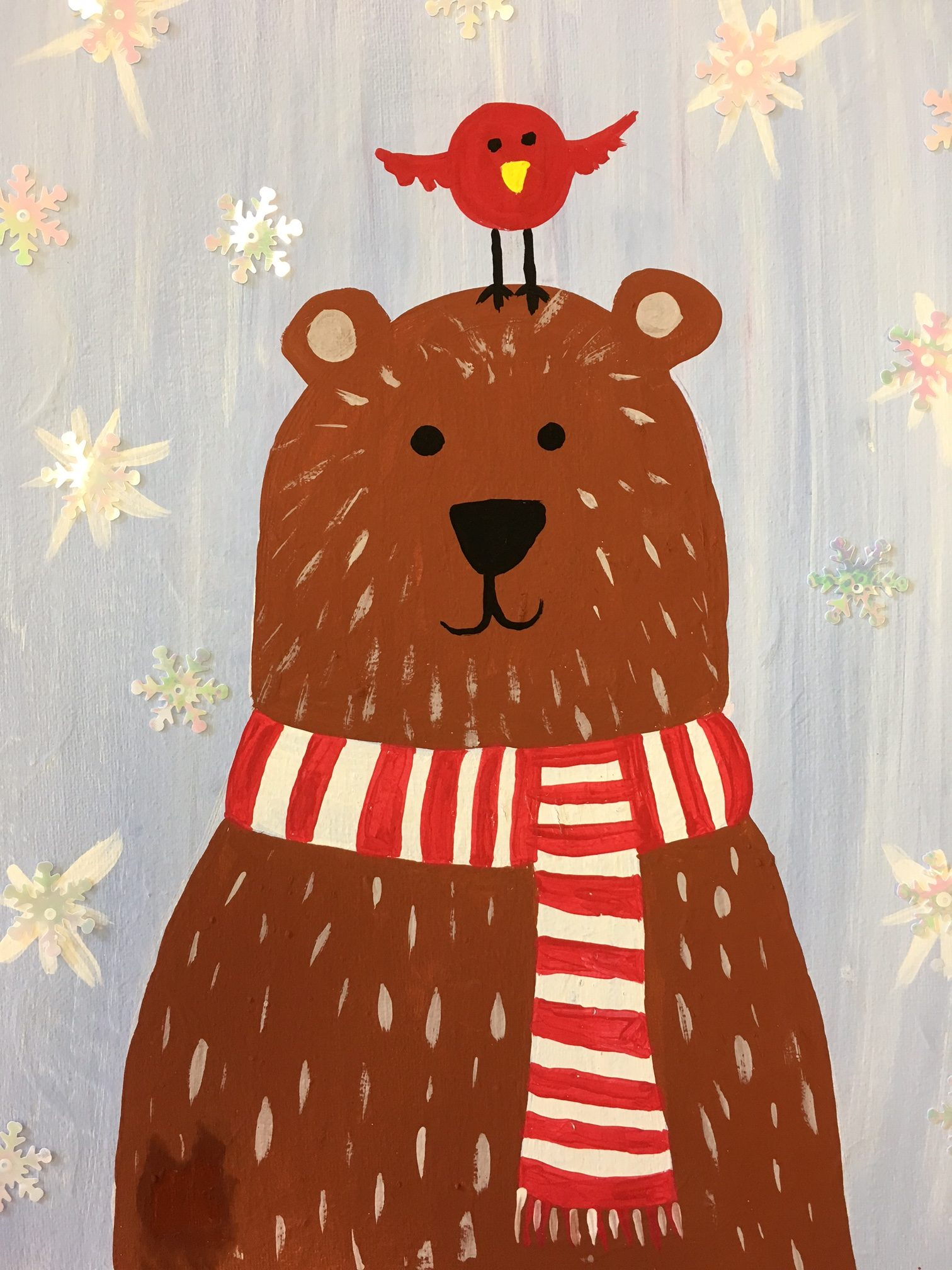 Image: Winter Bear Paint by The Studio Art School http://thestudiomchenry.com