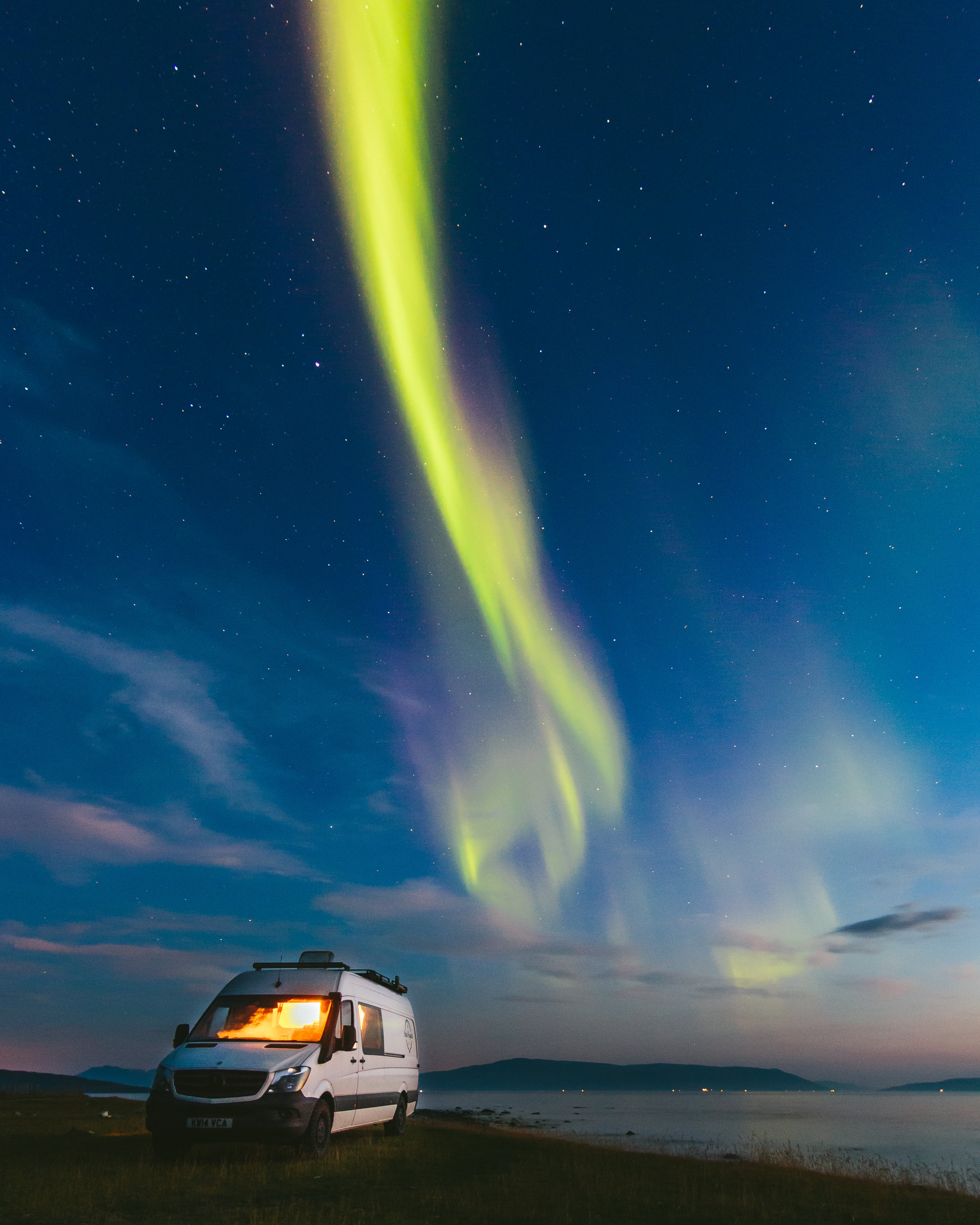 Van Life + northern lights