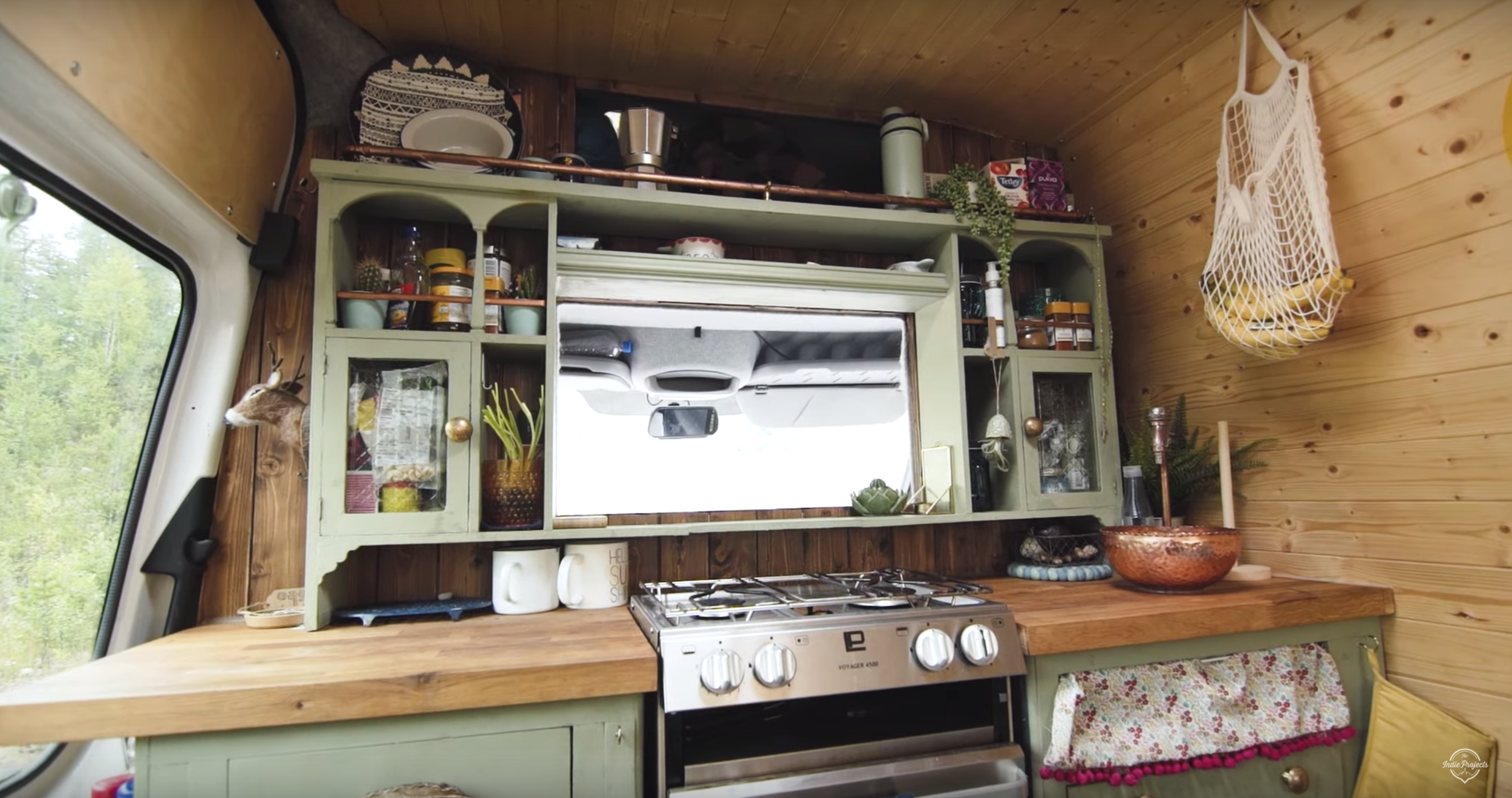 We created our country kitchen vibe with the help of a freebie dresser!