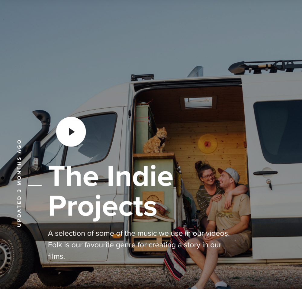 The Indie Projects - MusicBed Playlist