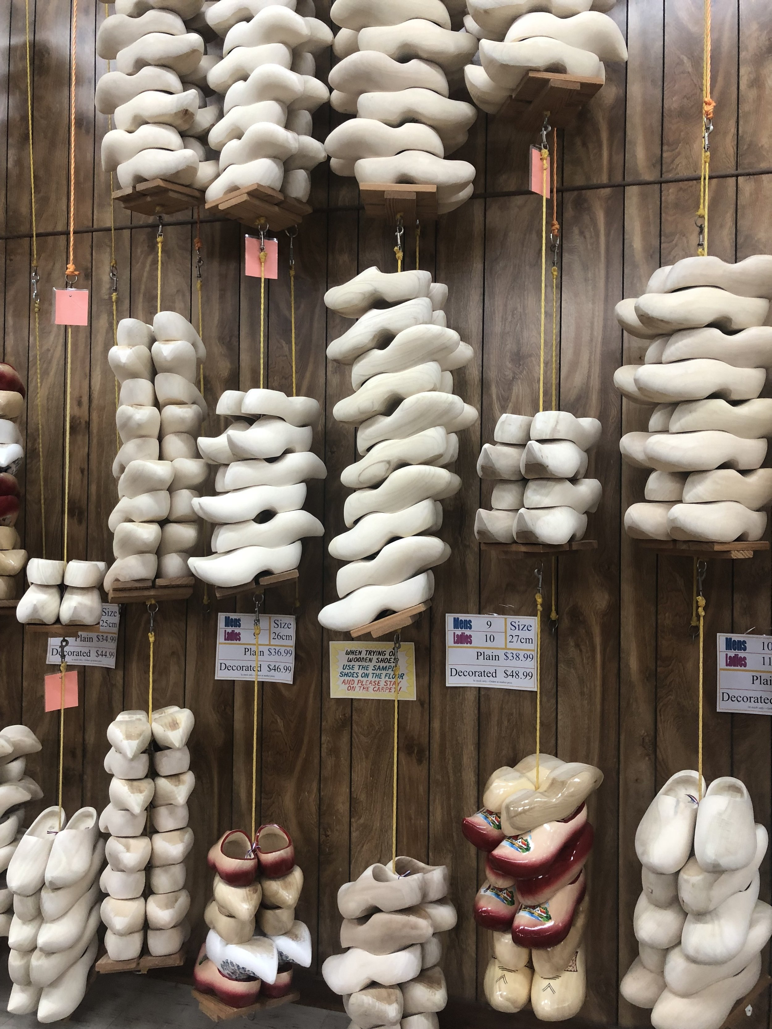 You can be fitted and purchase wooden shoes from Holland.